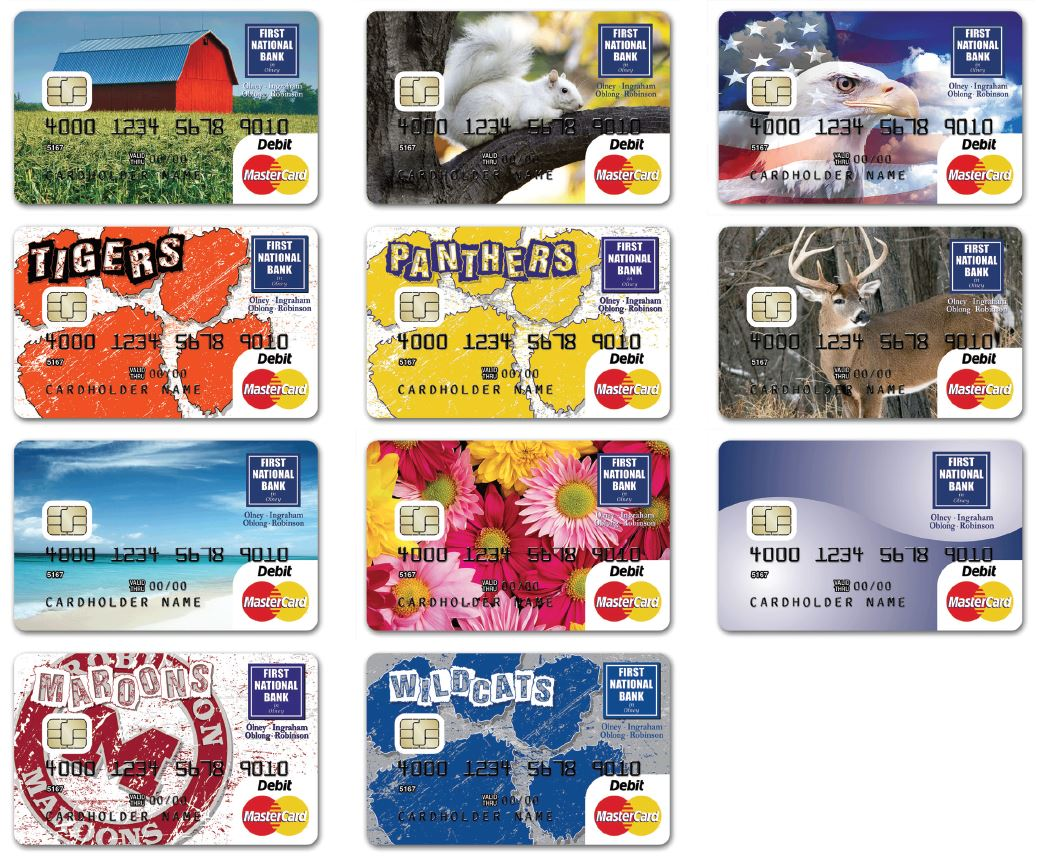 Bank Of America Affinity Debit Card Designs