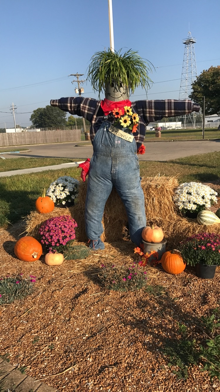 Scarecrow at Rt 130 facility.