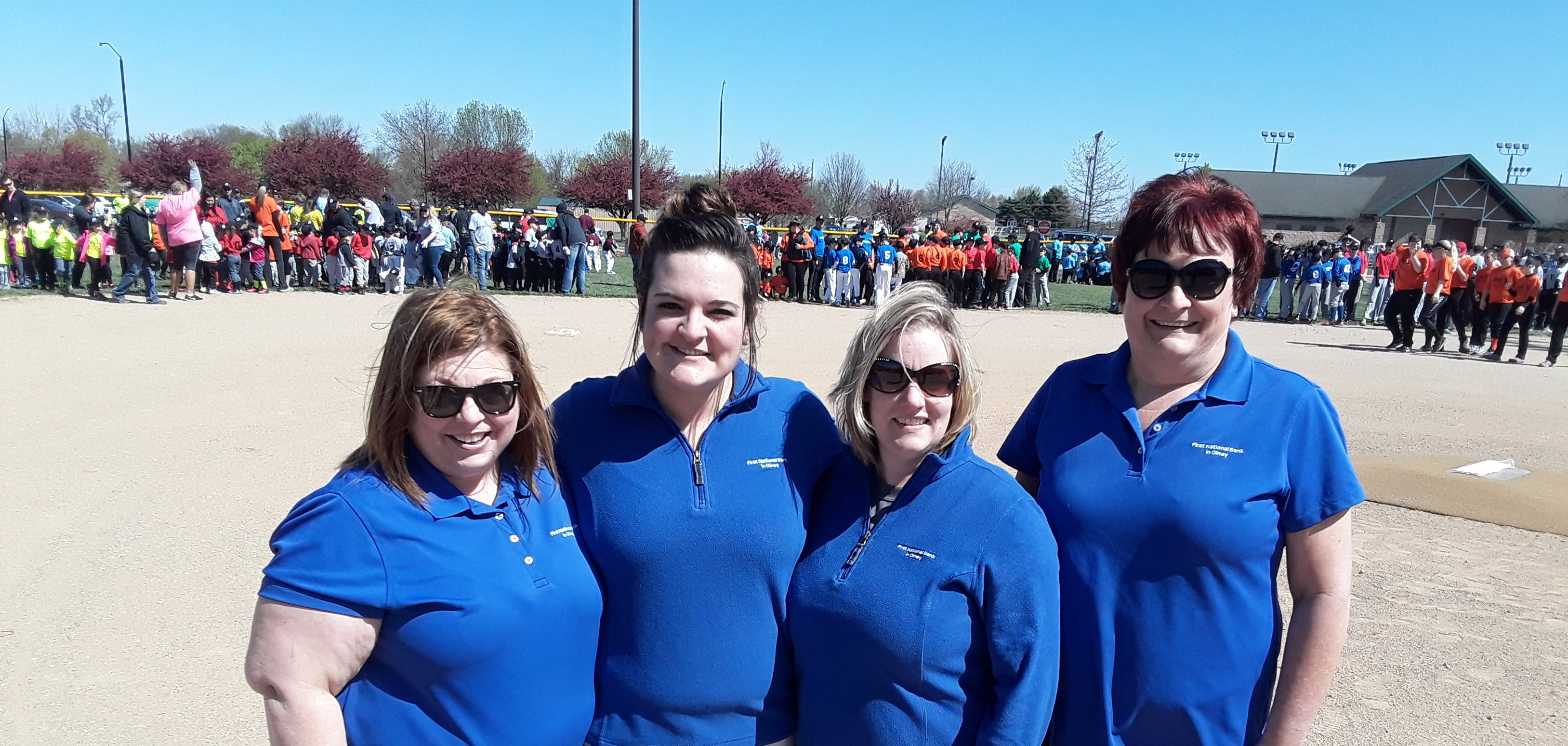 FNB employees at Little League Opening Day