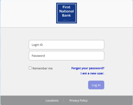 Screenshot of OLB login form.