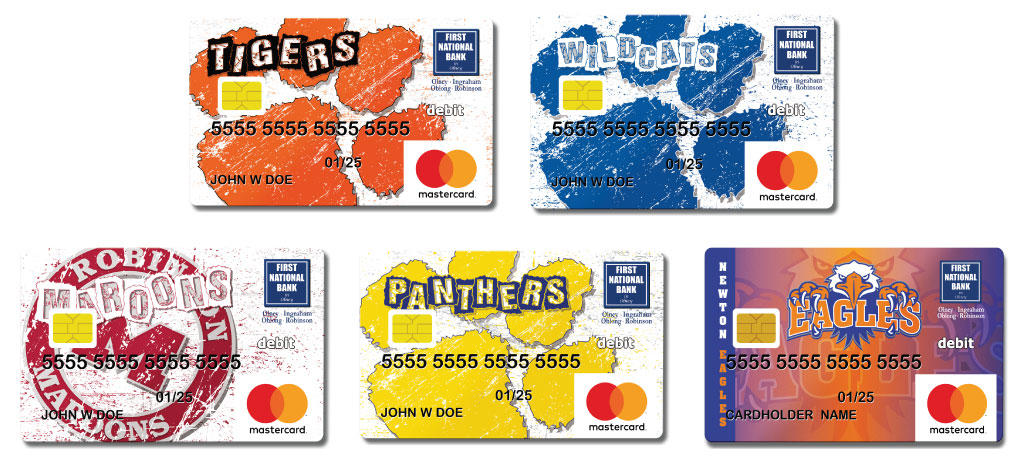 local school logo debit cards image